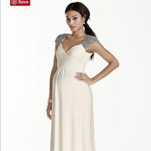 Long white maternity dress (Never worn)